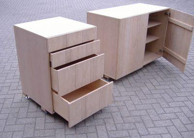 Eikenhouten keukenblokken